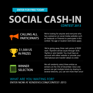 Share this website to social networks and win up to 1,500 USD in cash!