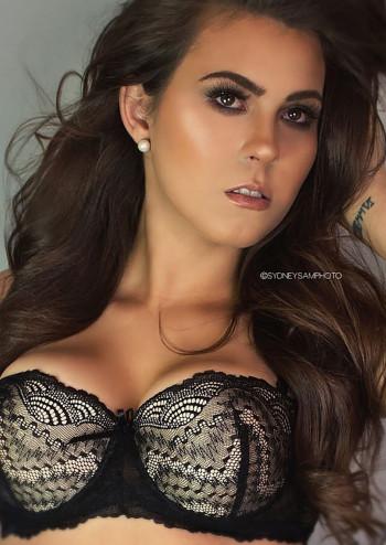 Baileigh Graham modeling a black bra