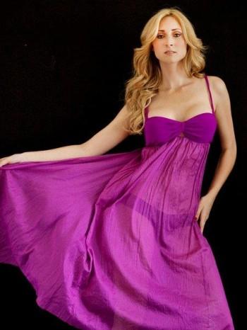 Lauren Ashlee Boyette wearing a purple dress