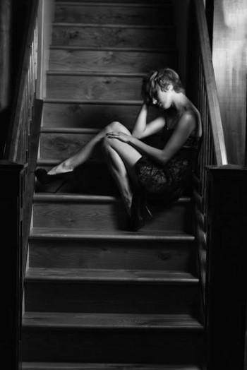 Naomi Ondrey - Sitting in a stairwell